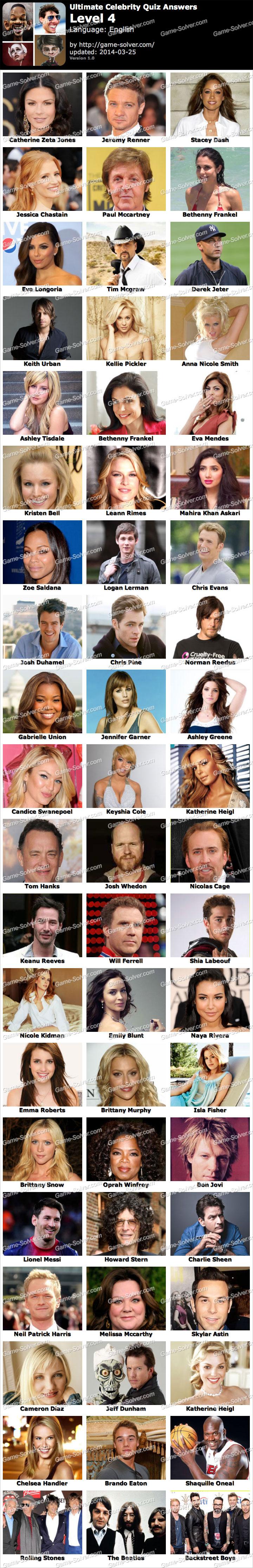 Ultimate Celebrity Quiz Level 4