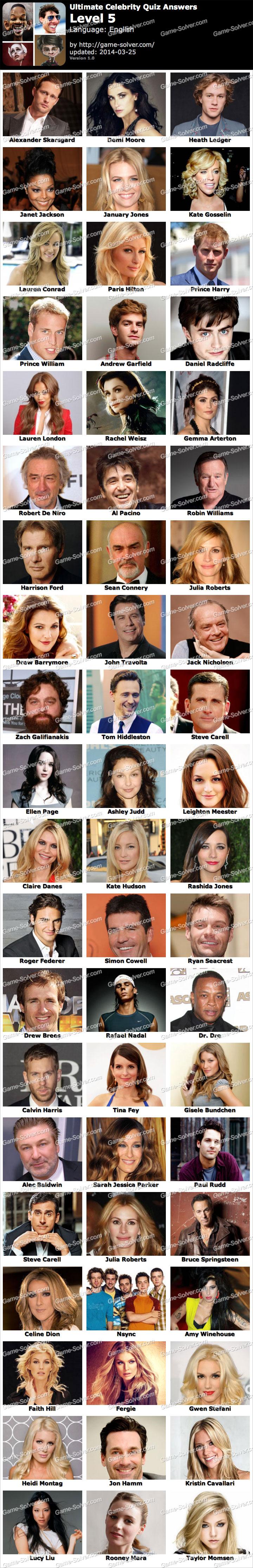 Ultimate Celebrity Quiz Level 5
