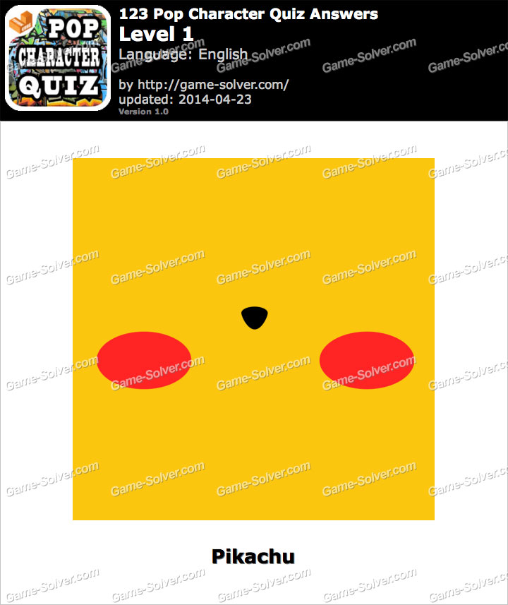 123 Pop Character Quiz Level 1