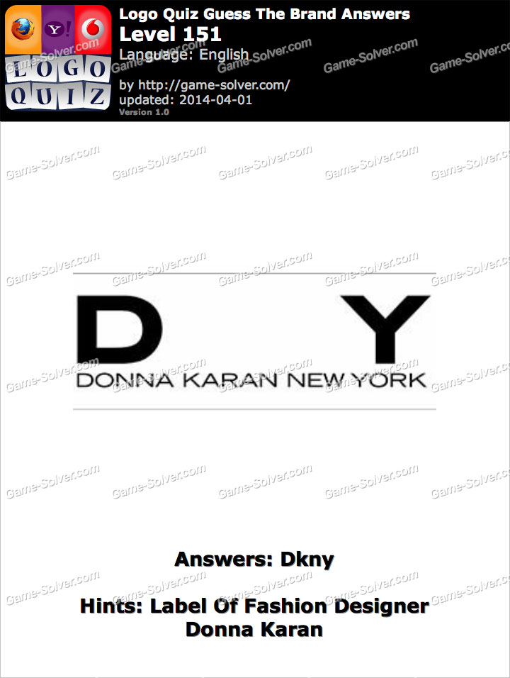 Label Of Fashion Designer Donna Karan Game Solver