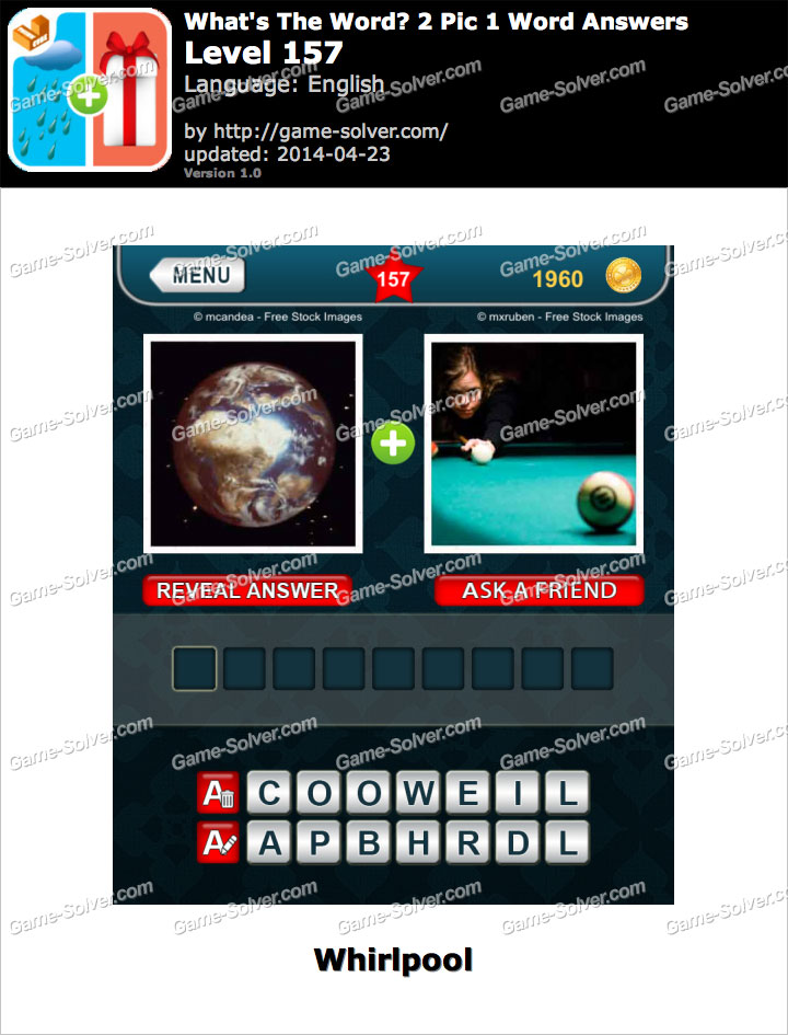 What's The Word 2 Pic 1 Word Level 157