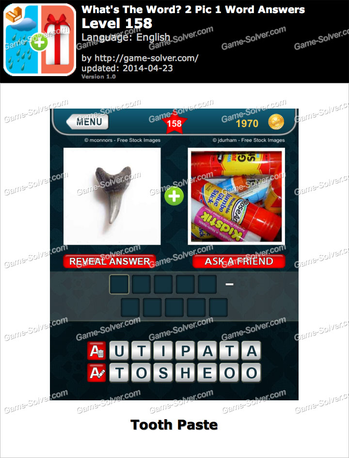 What's The Word 2 Pic 1 Word Level 158