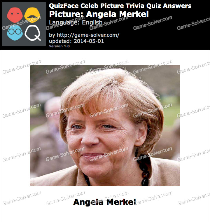 QuizFace Level Angela Merkel