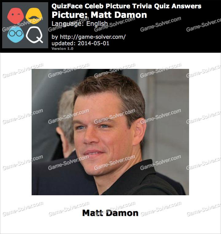 QuizFace Level Matt Damon