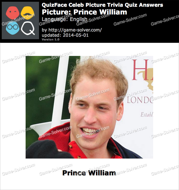 QuizFace Level Prince William