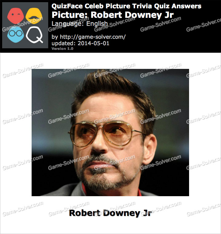 QuizFace Level Robert Downey Jr