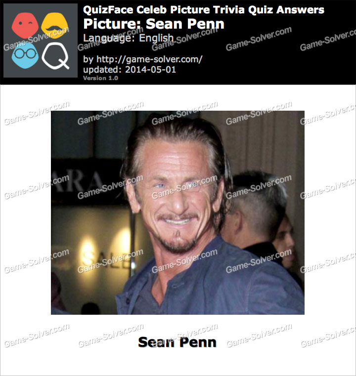 QuizFace Level Sean Penn