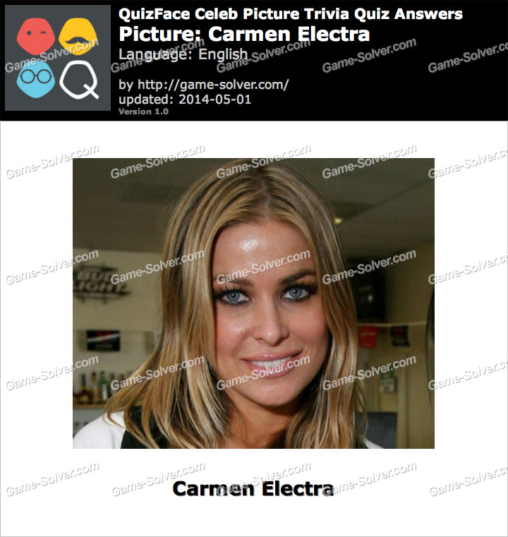QuizFace Level Carmen Electra