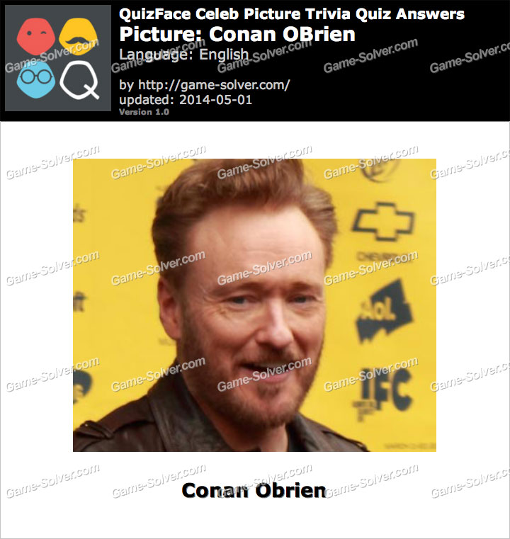 QuizFace Level Conan OBrien