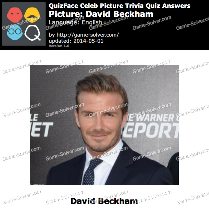 QuizFace Level David Beckham