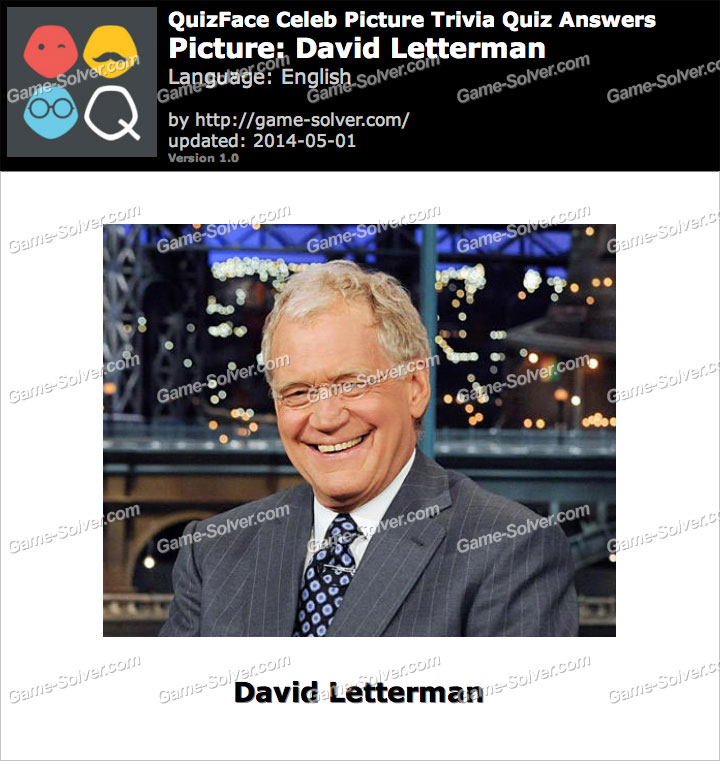 QuizFace Level David Letterman