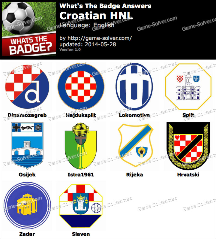 Whats The Badge Croatian HNL Answers