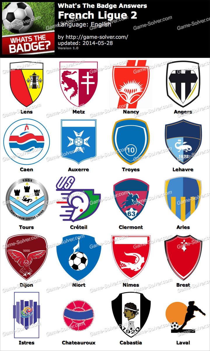 Whats The Badge French Ligue 2 Answers