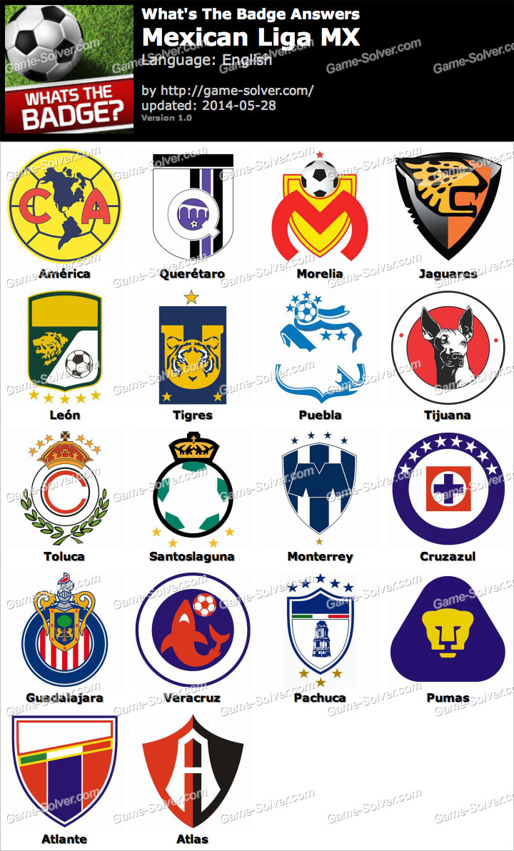 Whats The Badge Mexican Liga MX Answers