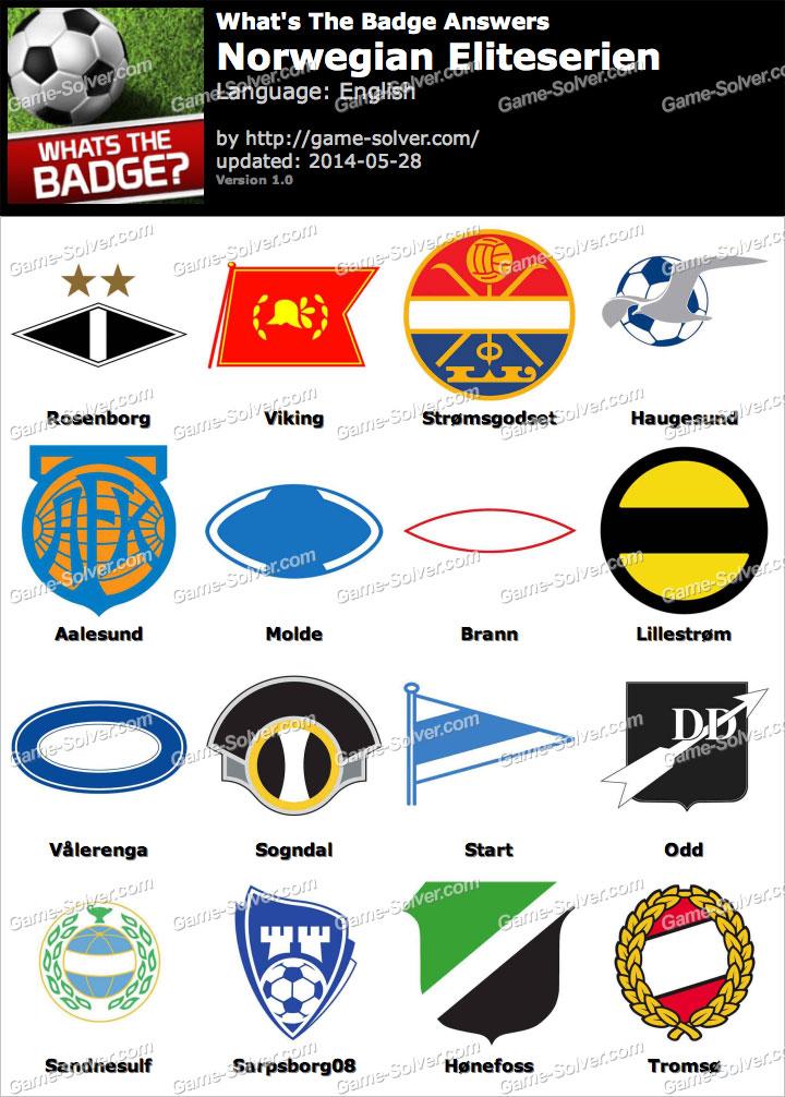 Whats The Badge Norwegian Eliteserien Answers