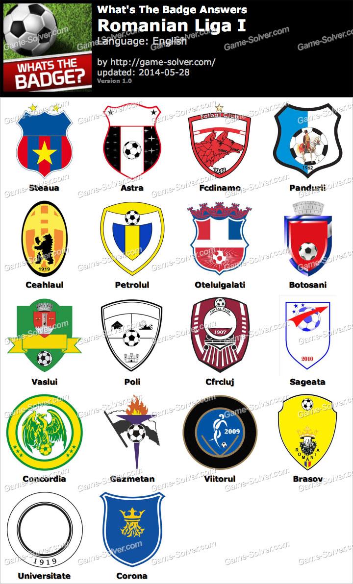 Whats The Badge Romanian Liga I Answers