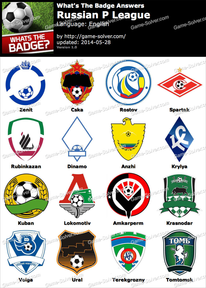 Whats The Badge Russian P League Answers
