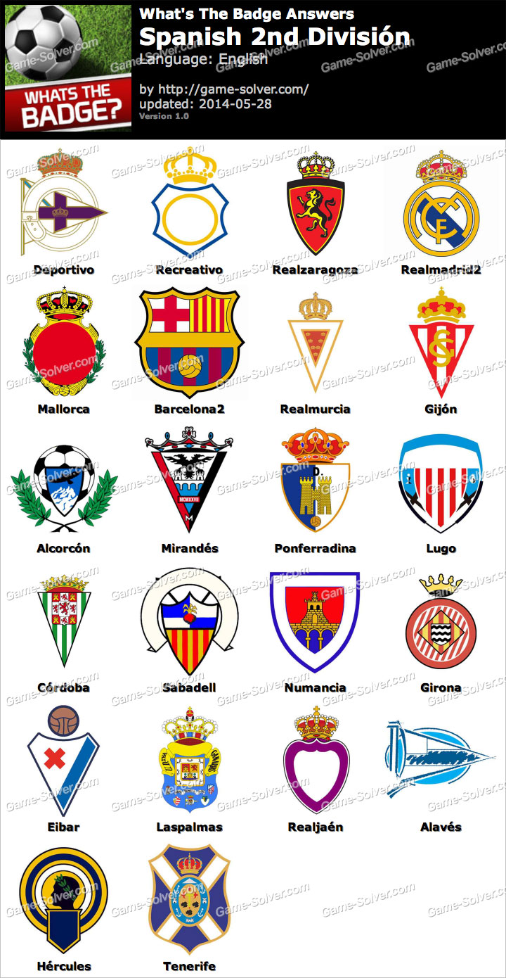 Whats The Badge Spanish 2nd División Answers