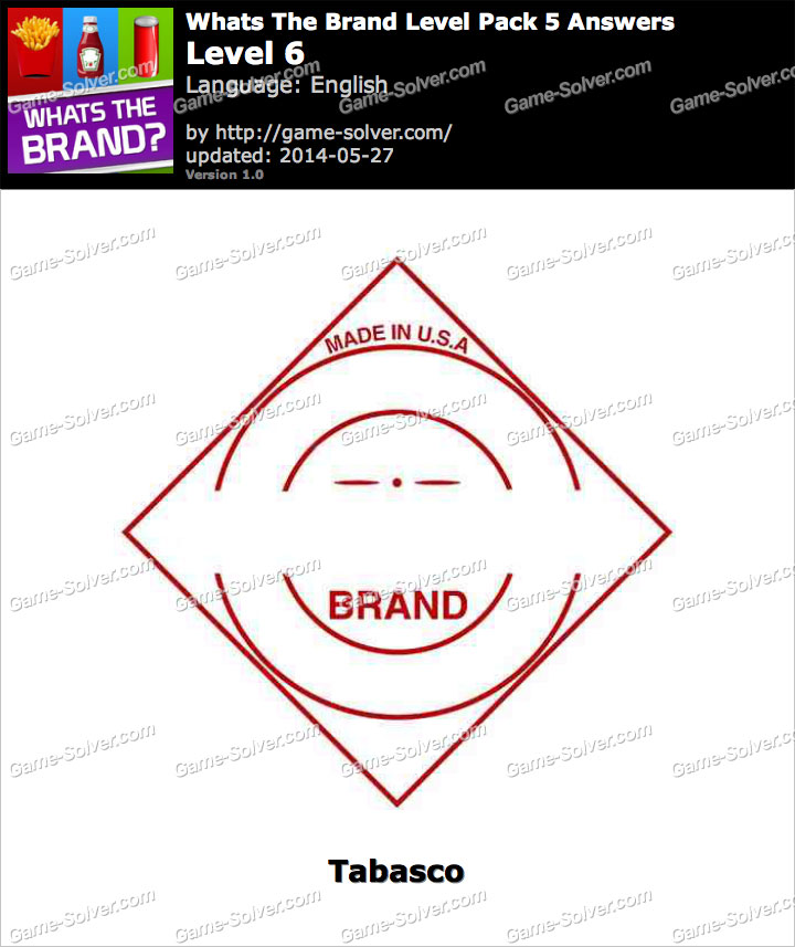 Whats The Brand Level Pack 5 Level 6