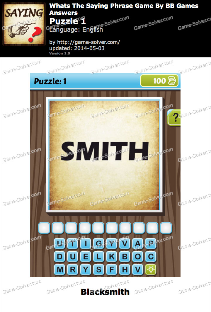 What's The Saying Phrase Game Puzzle 1