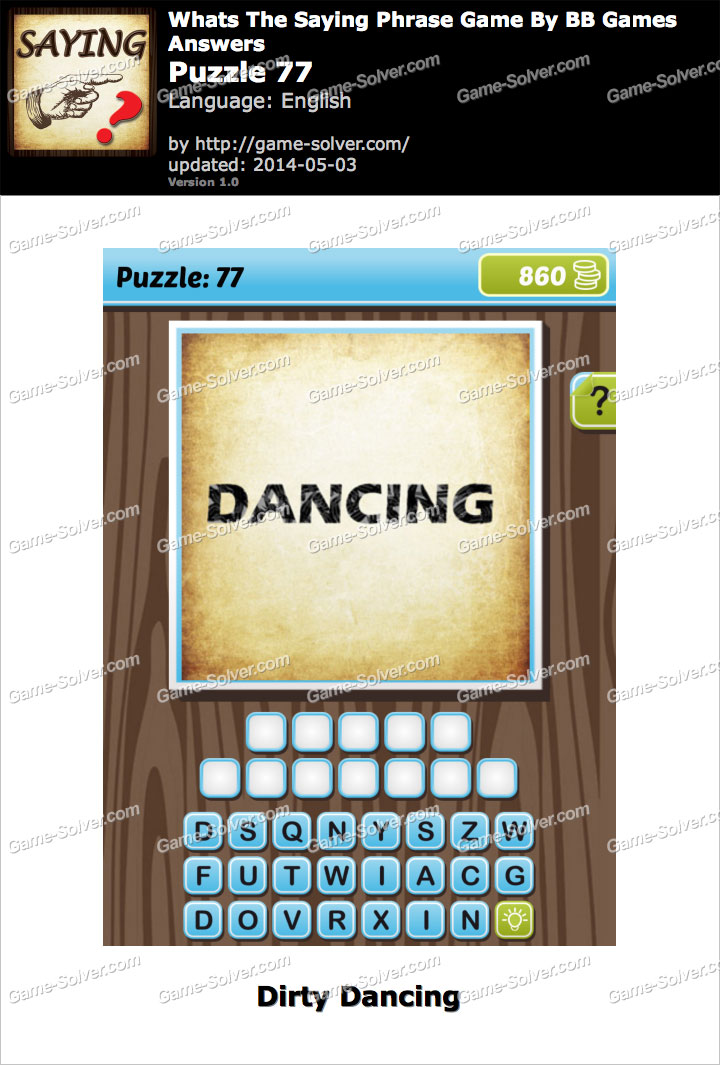 What's The Saying Phrase Game Puzzle 77