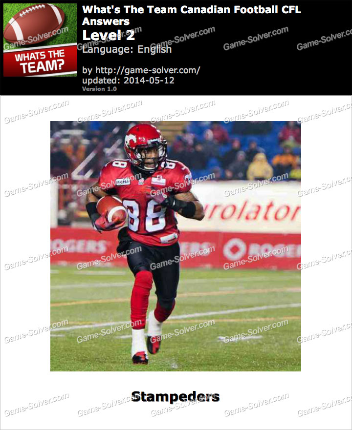 What's The Team Canadian Football CFL Level 2