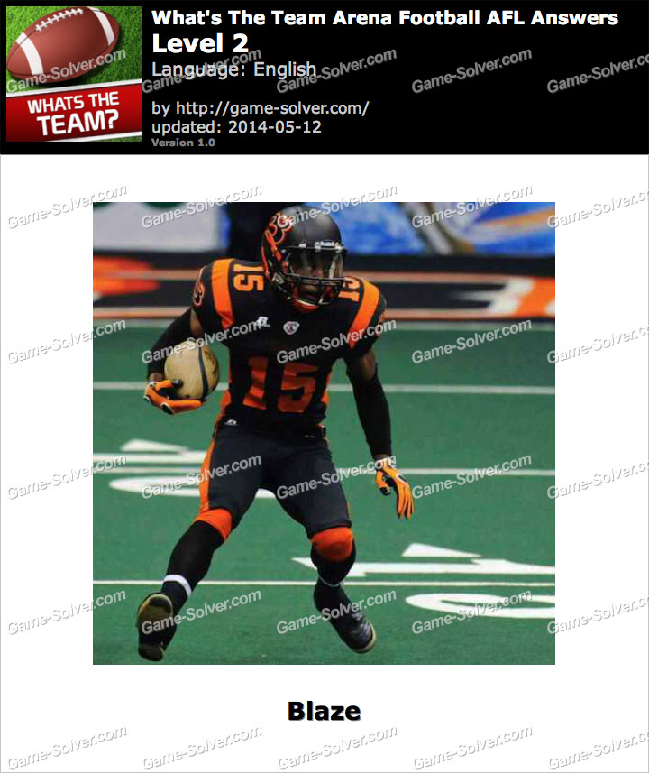What's The Team Arena Football AFL Level 2