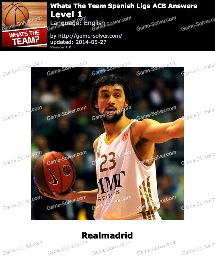 Whats The Team Spanish Liga ACB Level 1