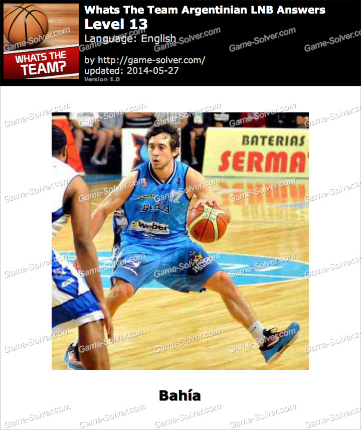 Whats The Team Argentinian LNB Level 13