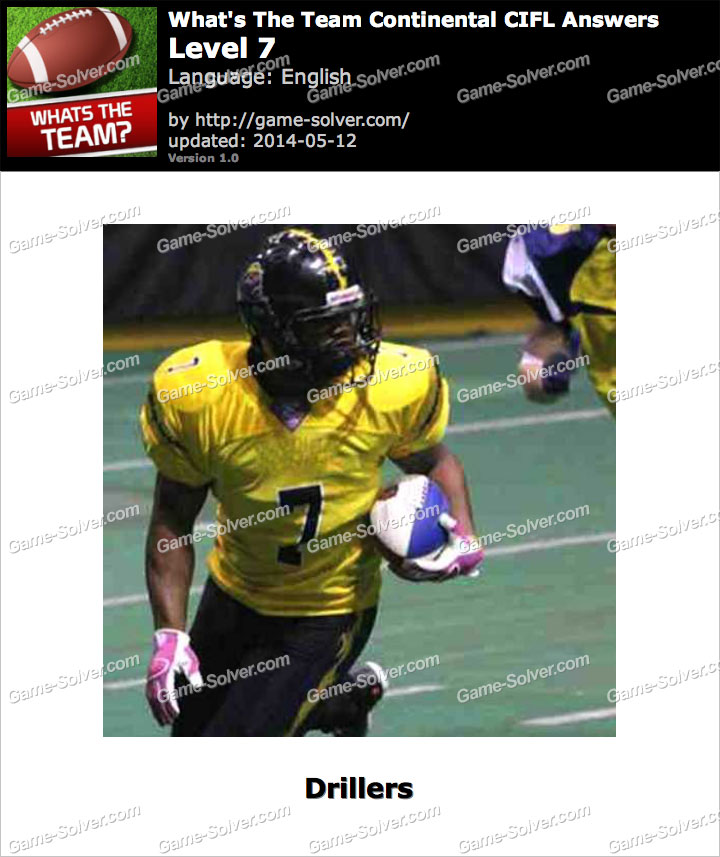 What's The Team Continental CIFL Level 7