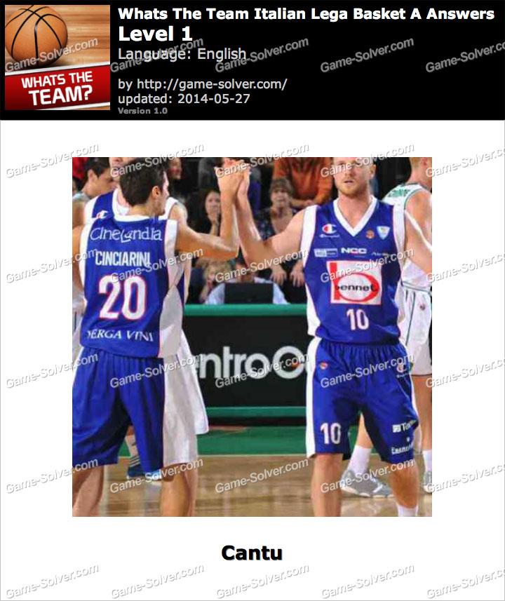 Whats The Team Italian Lega Basket A Level 1
