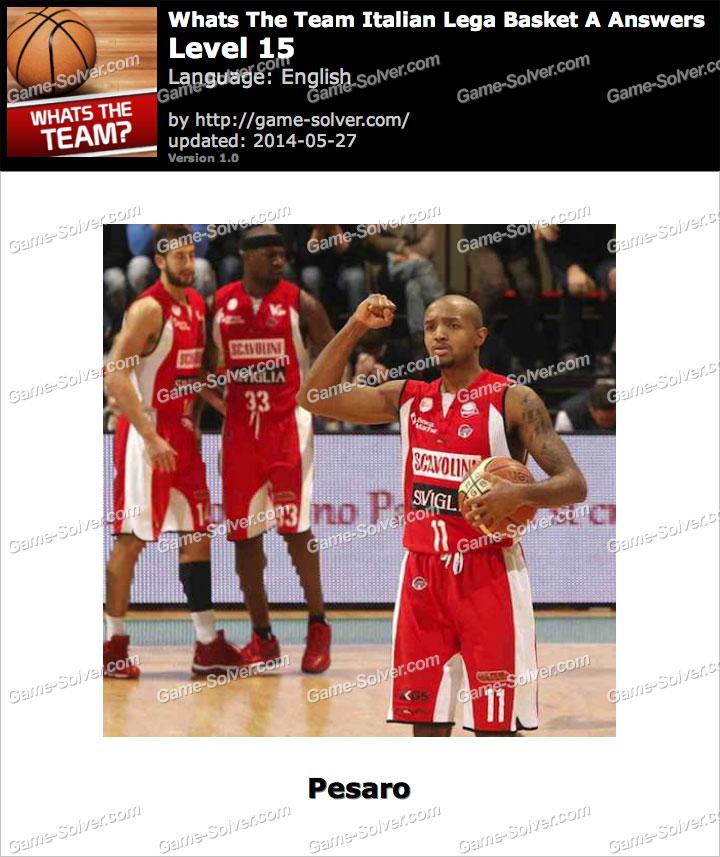 Whats The Team Italian Lega Basket A Level 15