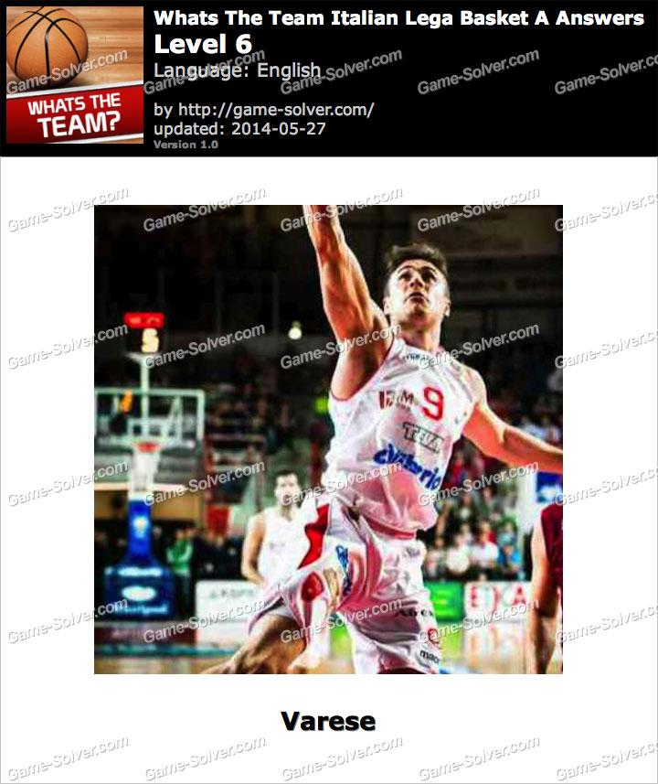 Whats The Team Italian Lega Basket A Level 6