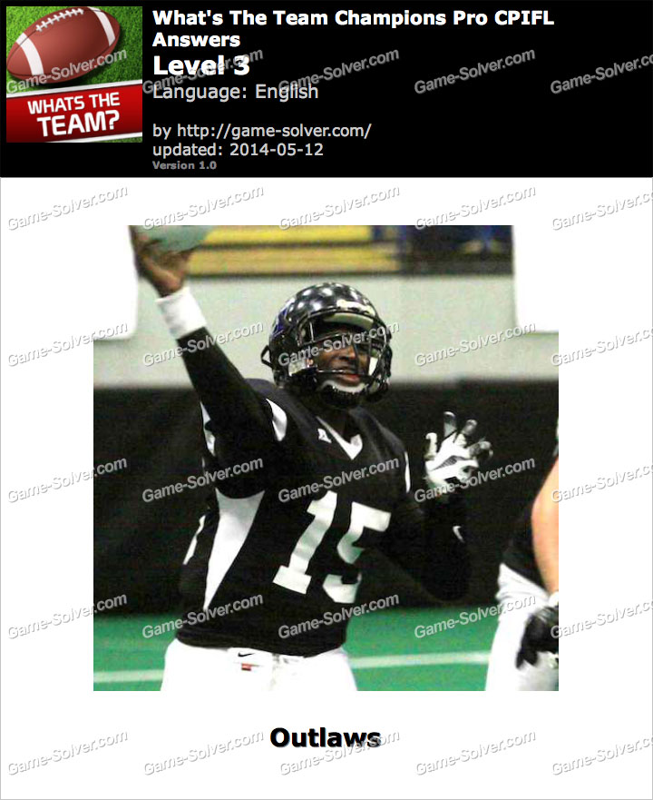 What's The Team Champions Pro CPIFL Level 3