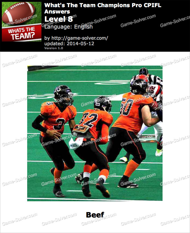 What's The Team Champions Pro CPIFL Level 8