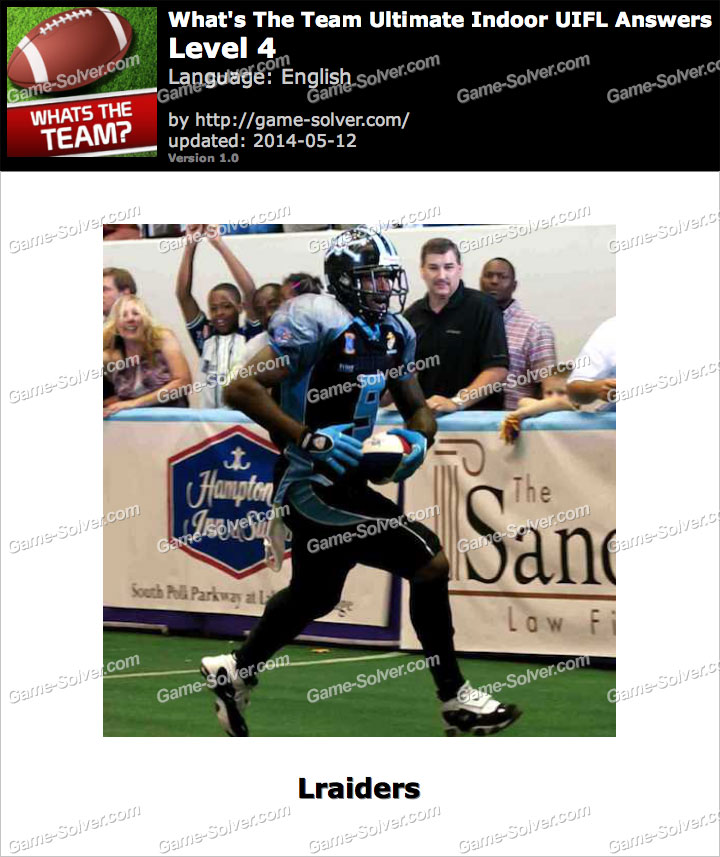 What's The Team Ultimate Indoor UIFL Level 4