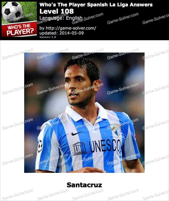 Who's The Player Spanish La Liga Level 108
