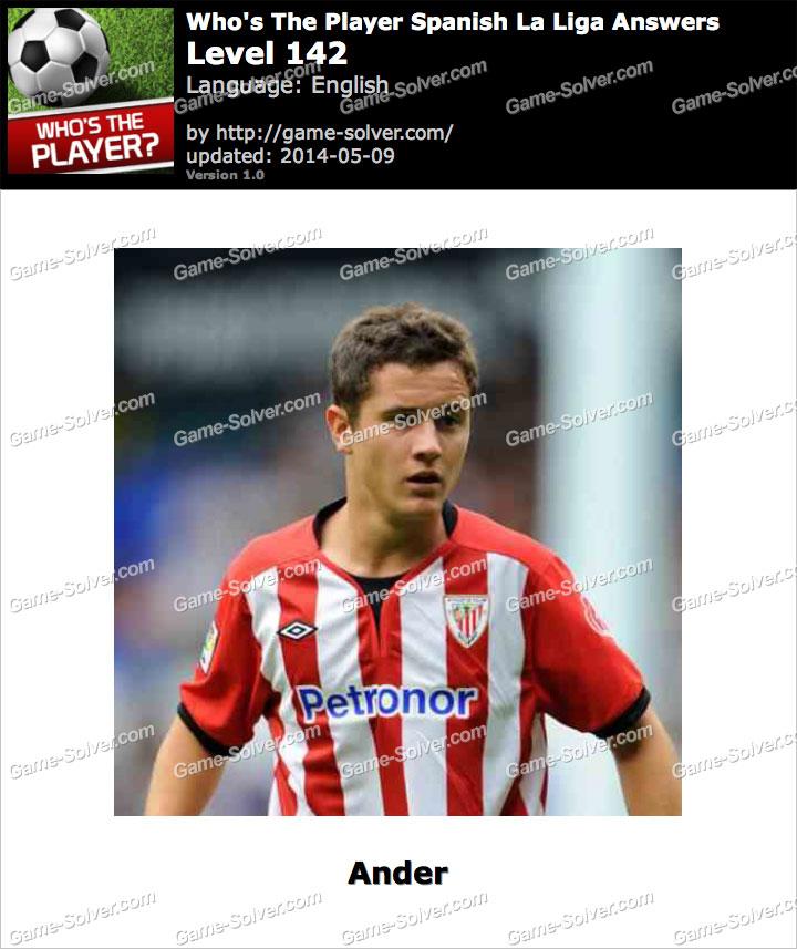 Who's The Player Spanish La Liga Level 142
