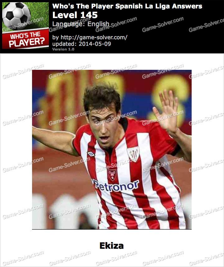Who's The Player Spanish La Liga Level 145