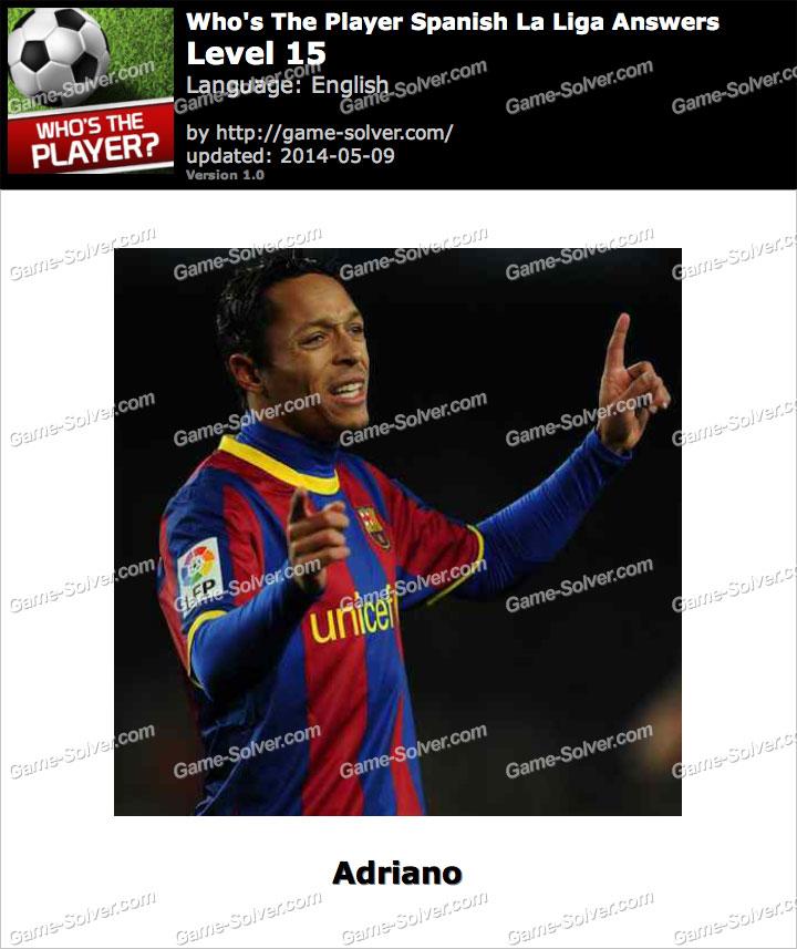 Who's The Player Spanish La Liga Level 15