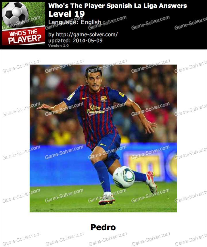 Who's The Player Spanish La Liga Level 19