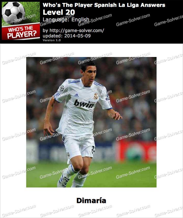 Who's The Player Spanish La Liga Level 20