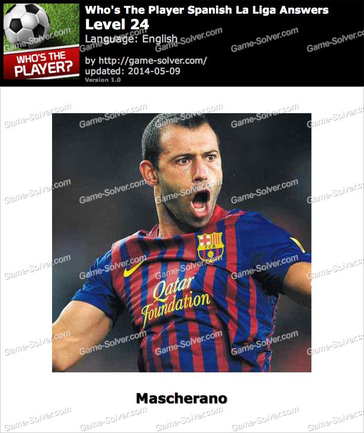 Who's The Player Spanish La Liga Level 24