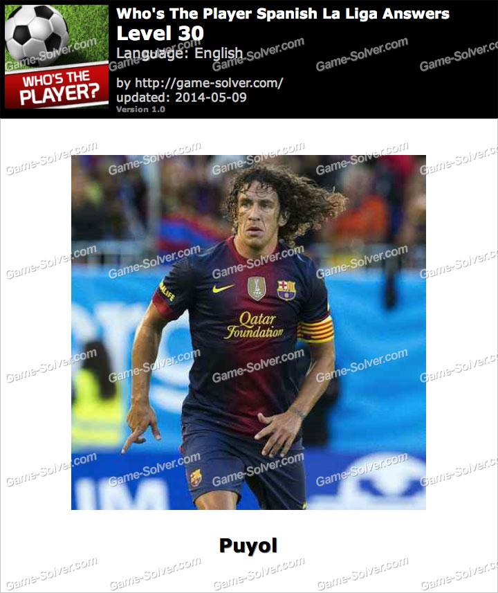 Who's The Player Spanish La Liga Level 30