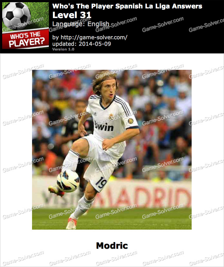 Who's The Player Spanish La Liga Level 31