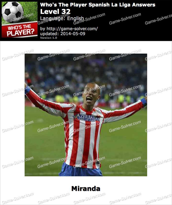 Who's The Player Spanish La Liga Level 32