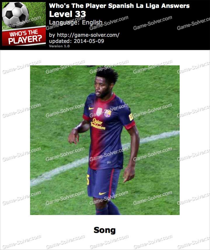 Who's The Player Spanish La Liga Level 33