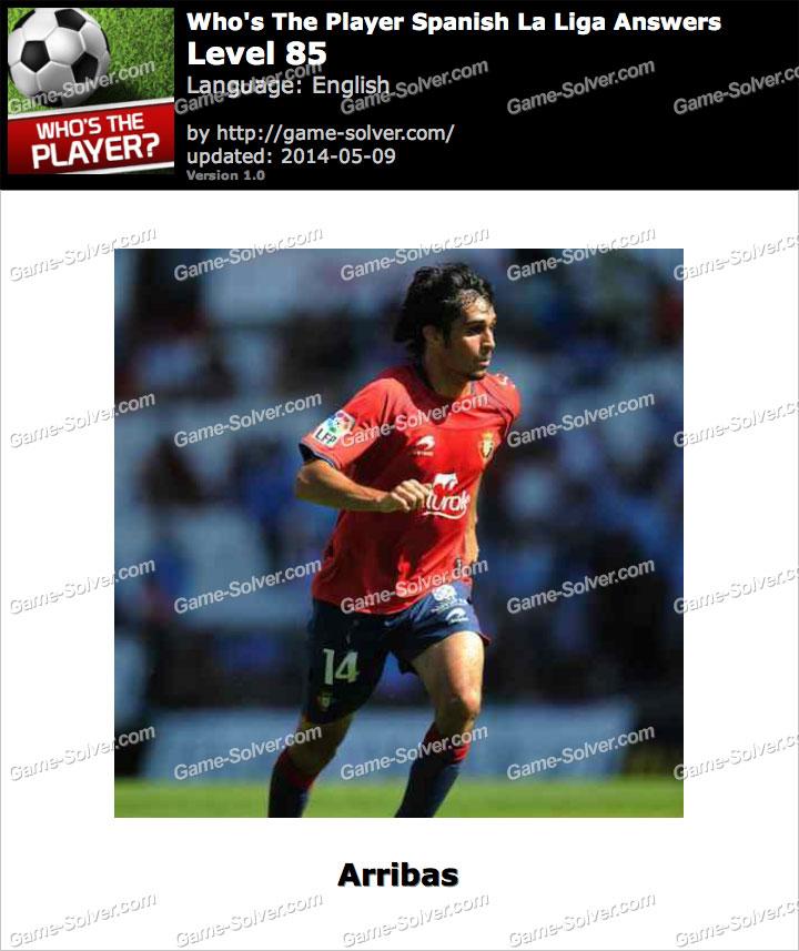 Who's The Player Spanish La Liga Level 85