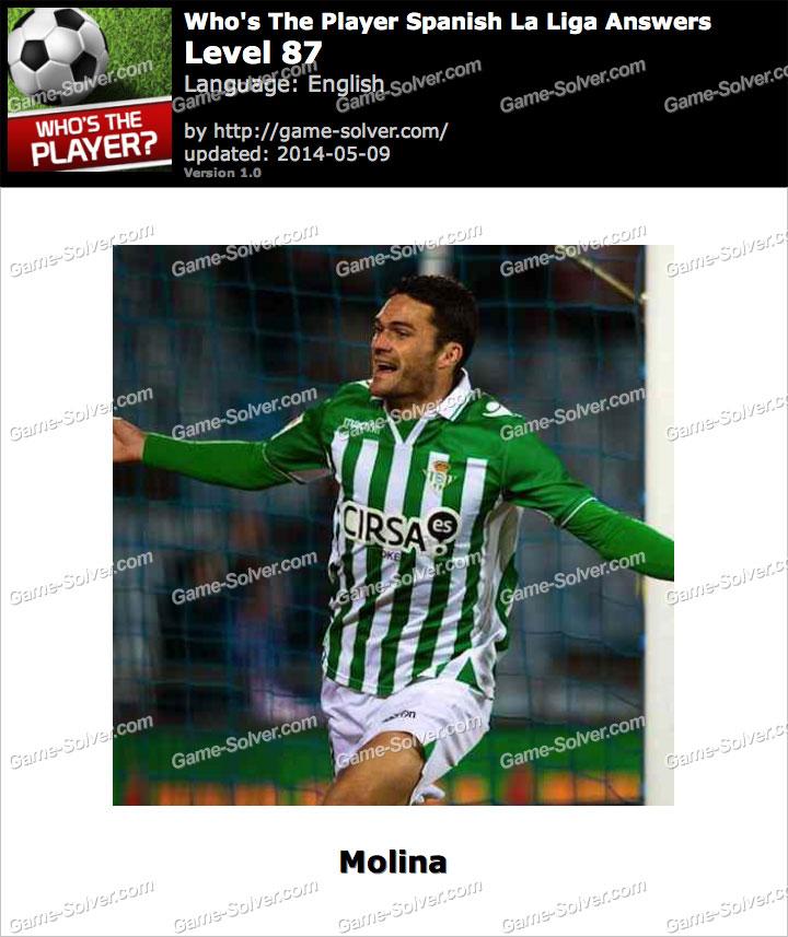 Who's The Player Spanish La Liga Level 87