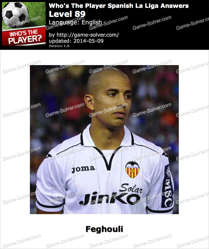 Who's The Player Spanish La Liga Level 89